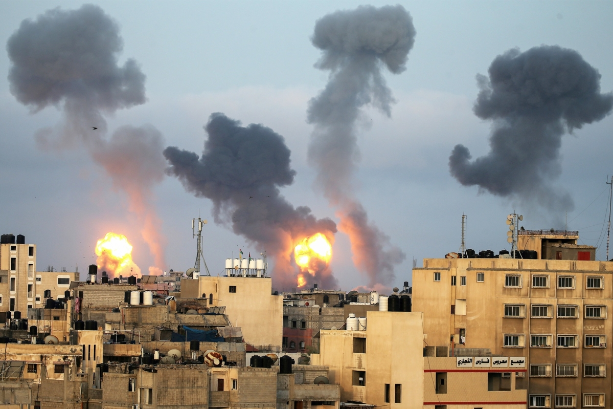 Violence in the southern Gaza Strip on May 11