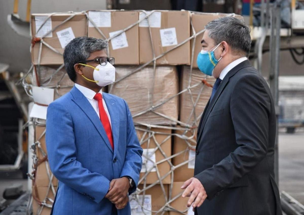 Chandan Steel MD helps to get help from Kazakhstan during Corona period