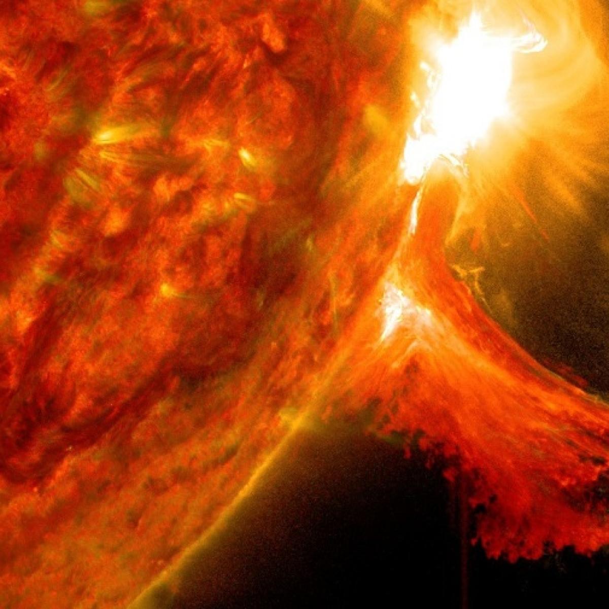 NASA-European Space Agency's sun-watching spacecraft captures first solar eruption