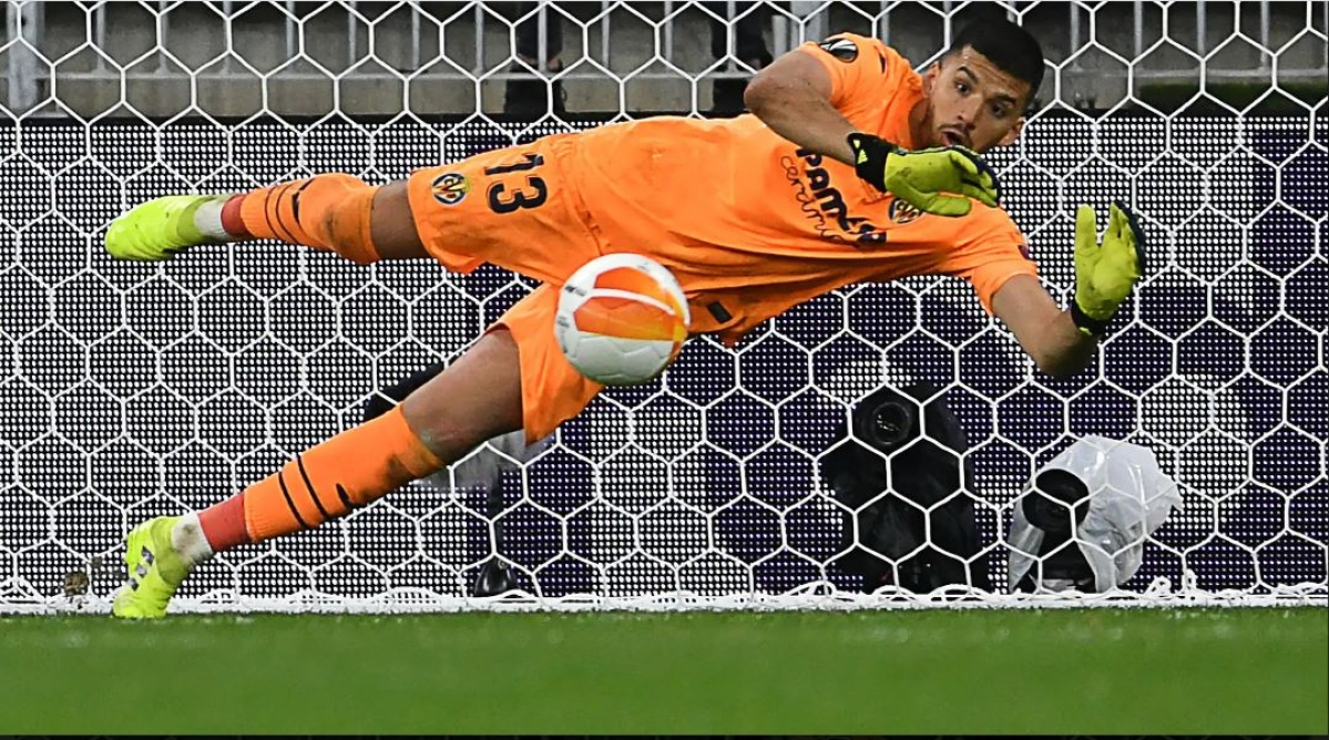 Geronimo Rulli saved the 22nd kick of the marathon penalty off United's  goalkeeper David de Gea to give Villarreal their first major European trophy.