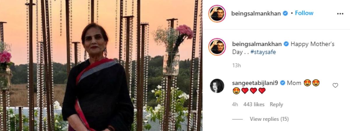 Sangeeta Bijlani writes 'Mom' on ex-boyfriend Salman Khan's Mother's Day post