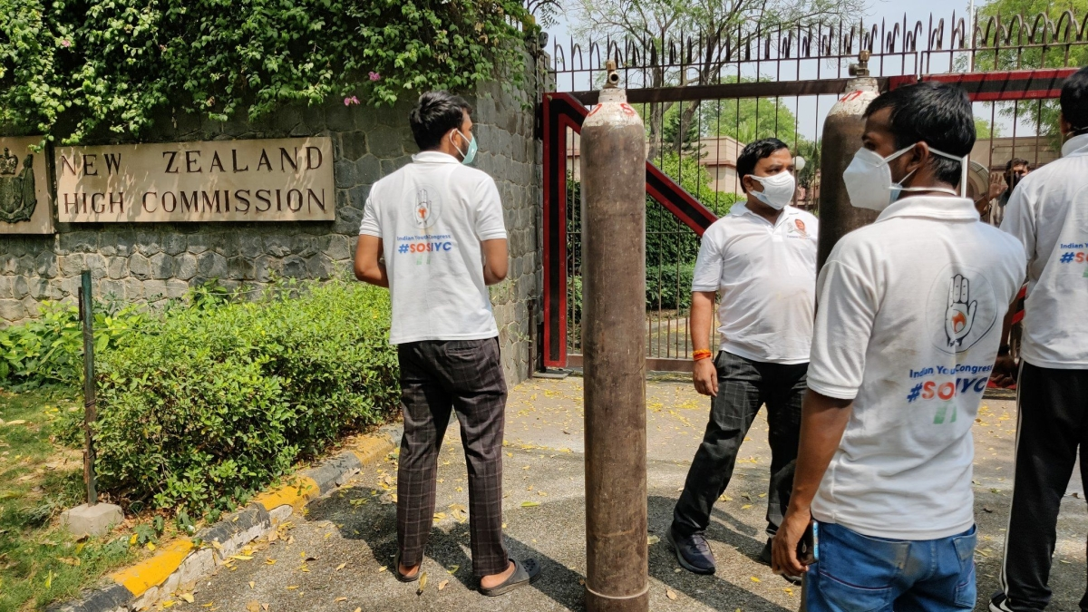COVID-19 in Delhi: Youth Congress sends oxygen cylinder to New Zealand High Commission amid furore over now deleted SOS