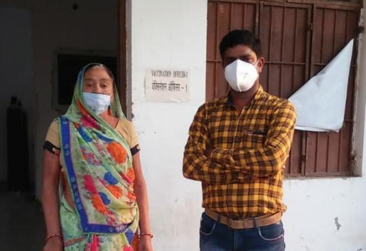 Suman Vani with her son Rajendra Vani