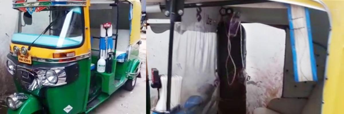 Javed Khan's mini-ambulance.