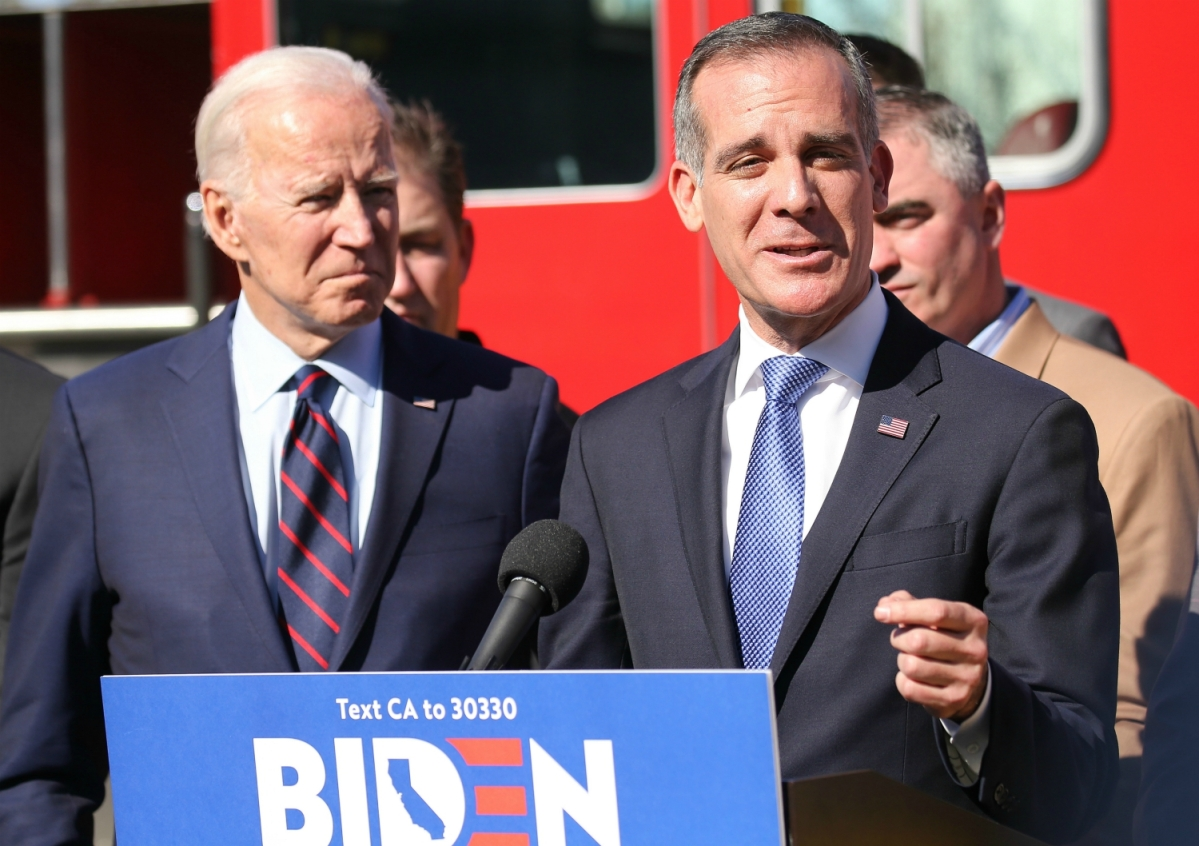 Biden considering naming Los Angeles Mayor Eric Garcetti as Ambassador to India