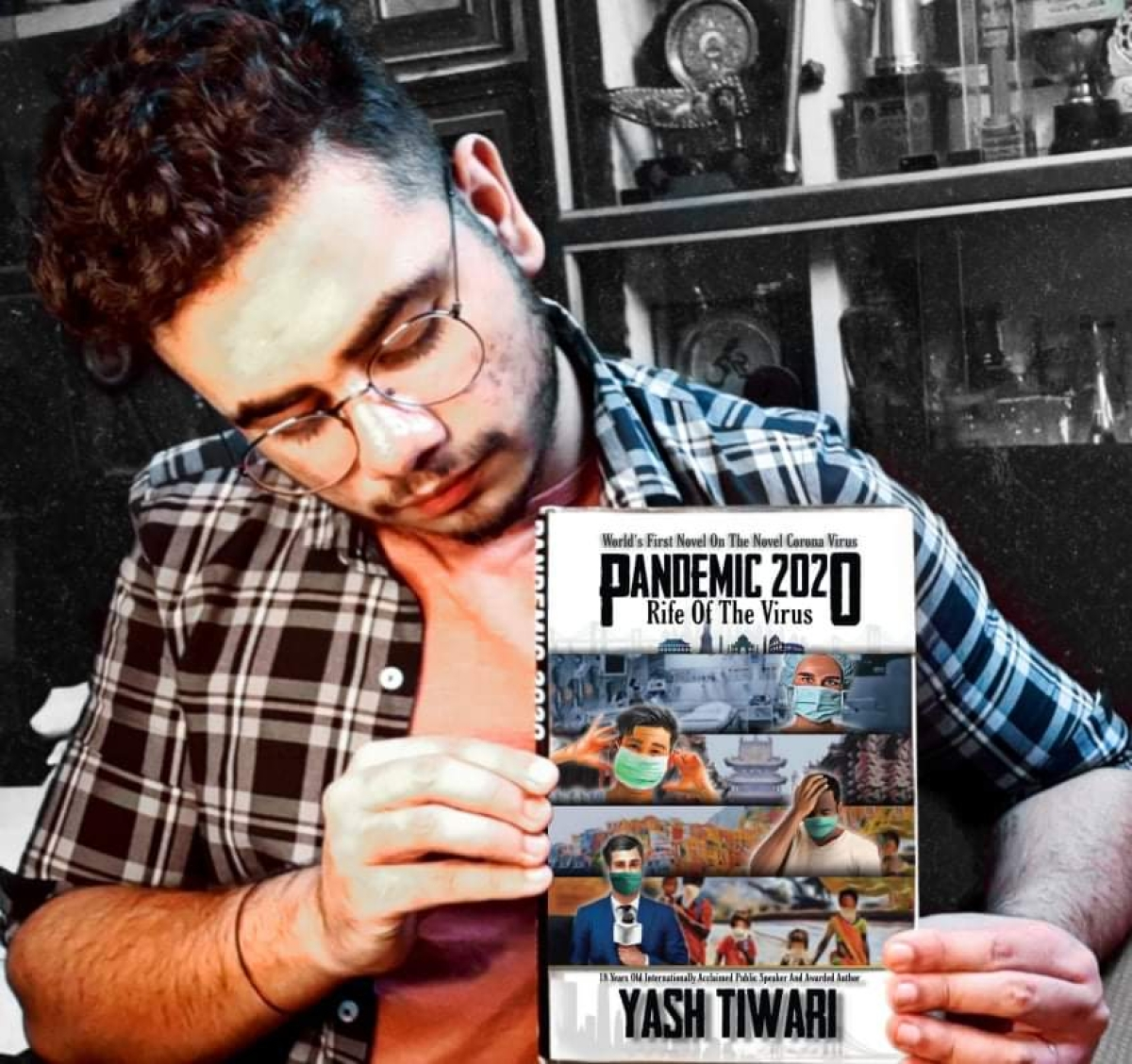 In Picture: Yash Tiwari and his book 'Pandemic 2020: Rife of the Virus'