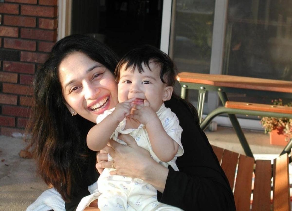 Madhuri and baby Arin