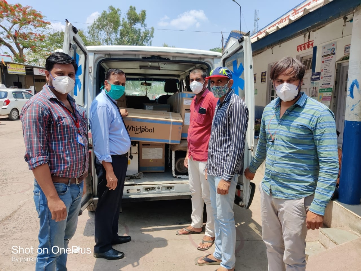 Air conditioners were donated to Sardarpur Community Health Centre