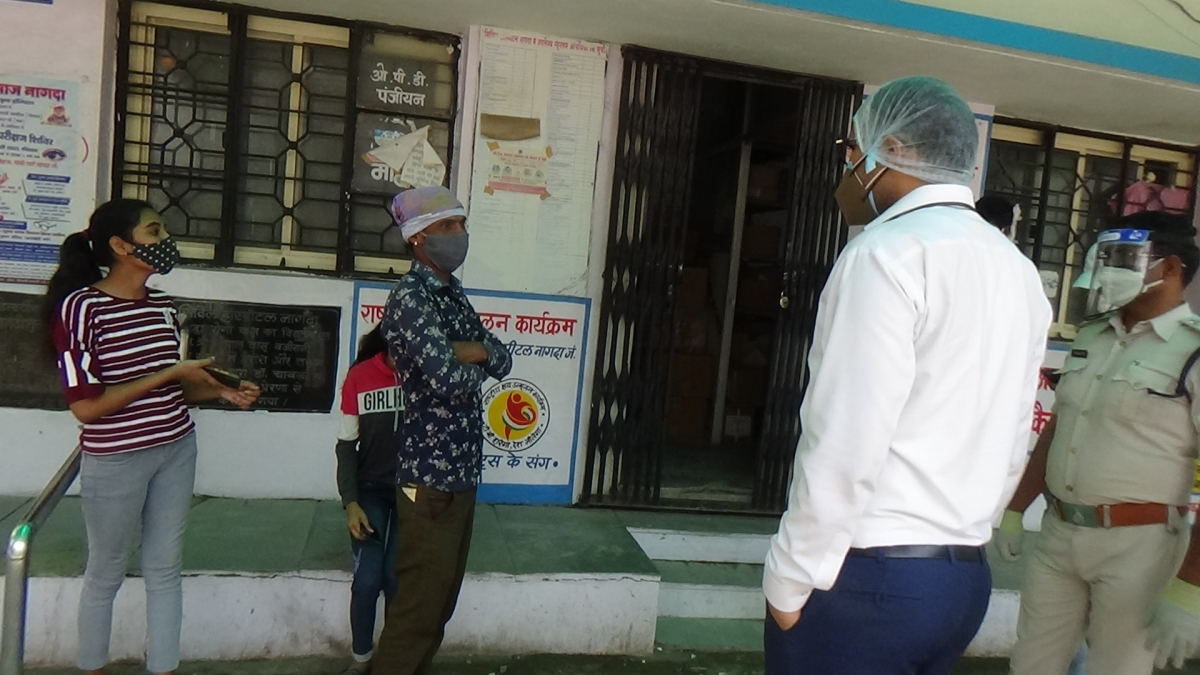 Administrative team inspected Covid Care Centre in Nagda on Monday