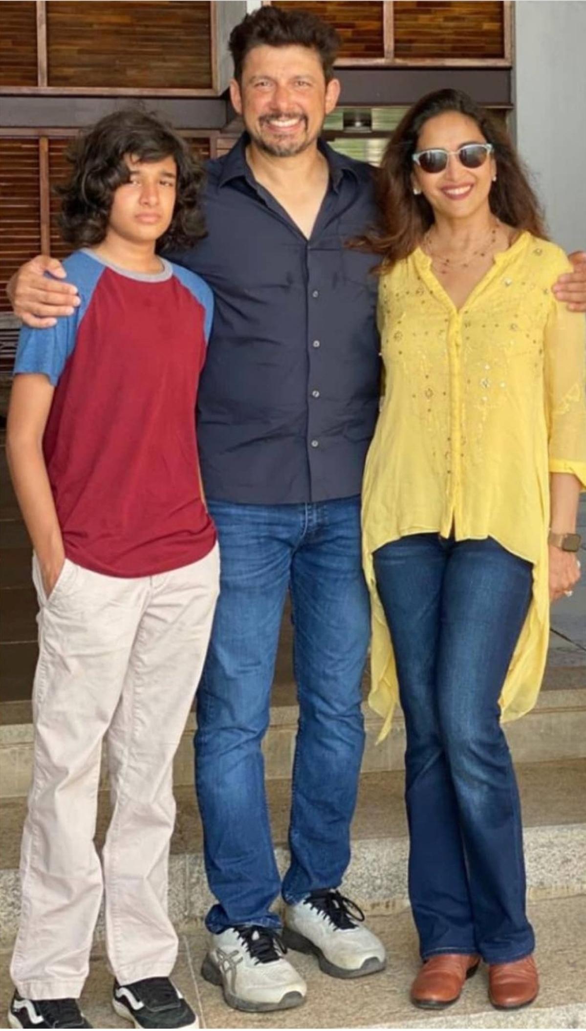 Madhuri and Madhav with their son Ryan