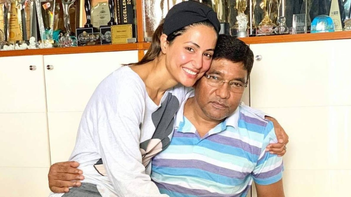 'My dear daddy, I miss you': Hina Khan remembers happy moments with her late father
