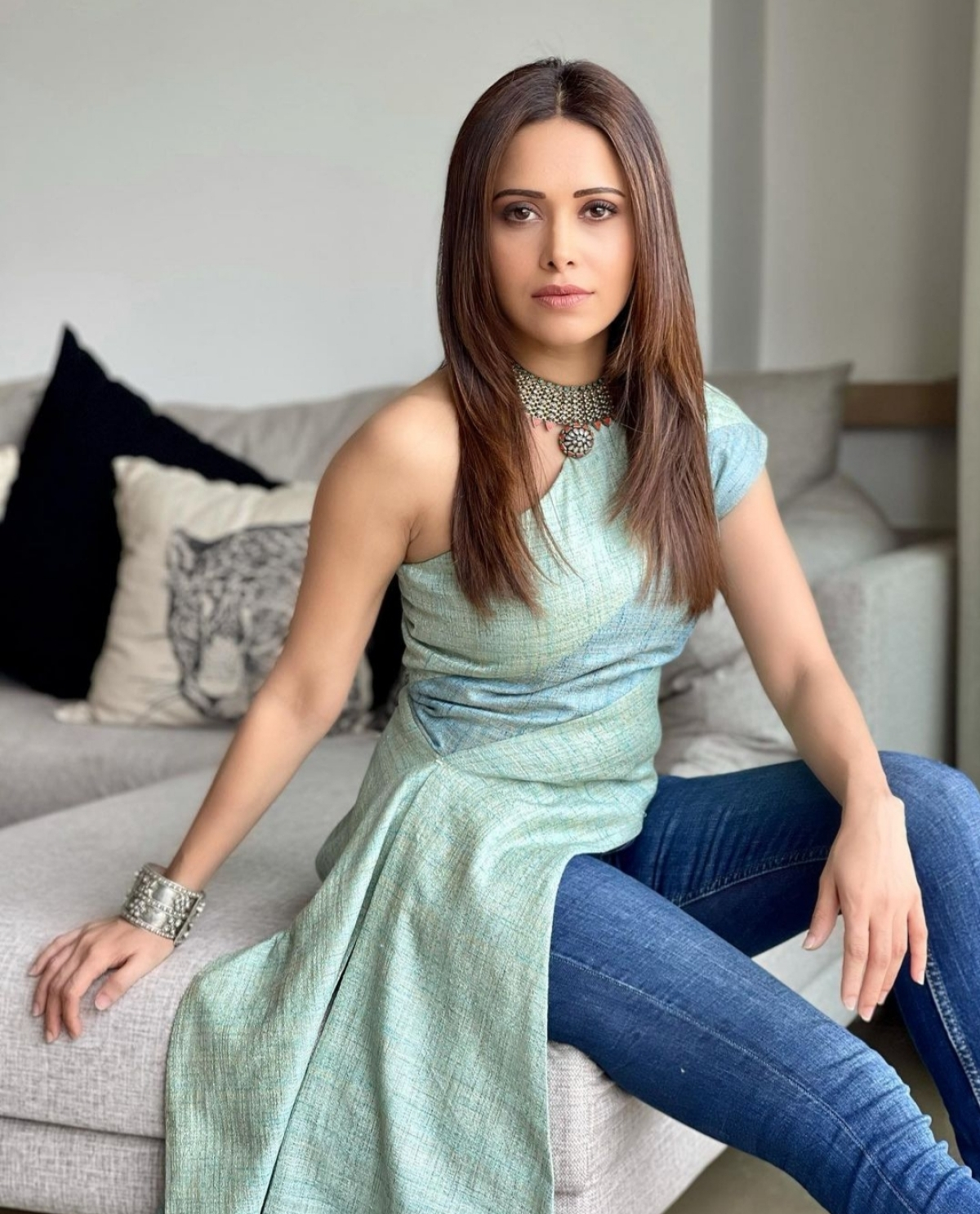 Nushrat Bharucha in her work from home outfit
