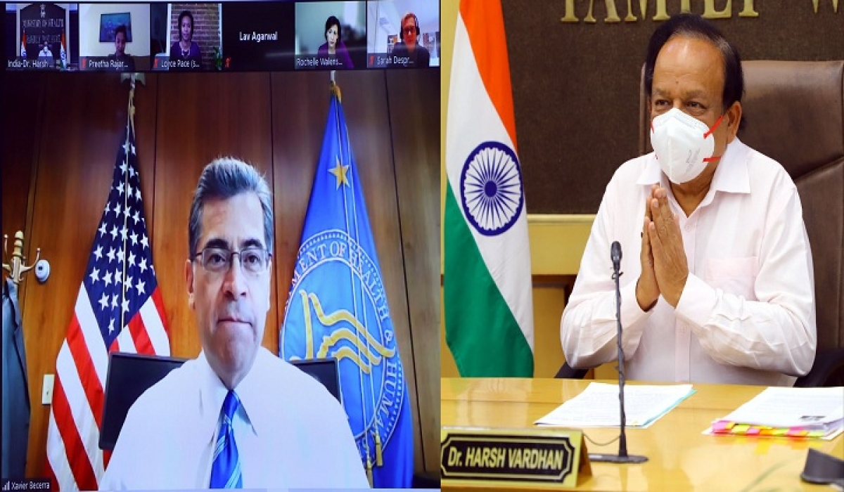 US promises help to fight virus as Vardhan interacts with counterpart