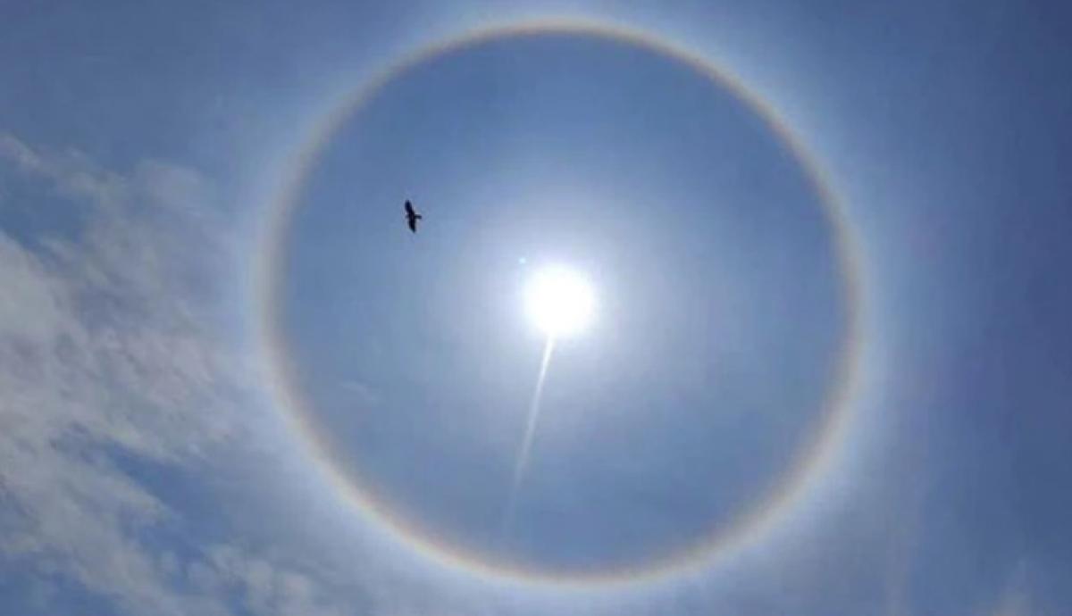 Bengaluru witnesses rare rainbow-coloured halo around Sun