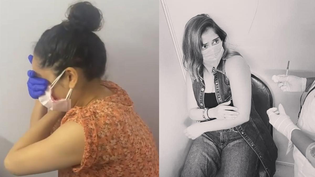 'Itni nautanki': Ankita Lokhande, Arrti Singh trolled for 'overacting' while getting COVID-19 vaccine