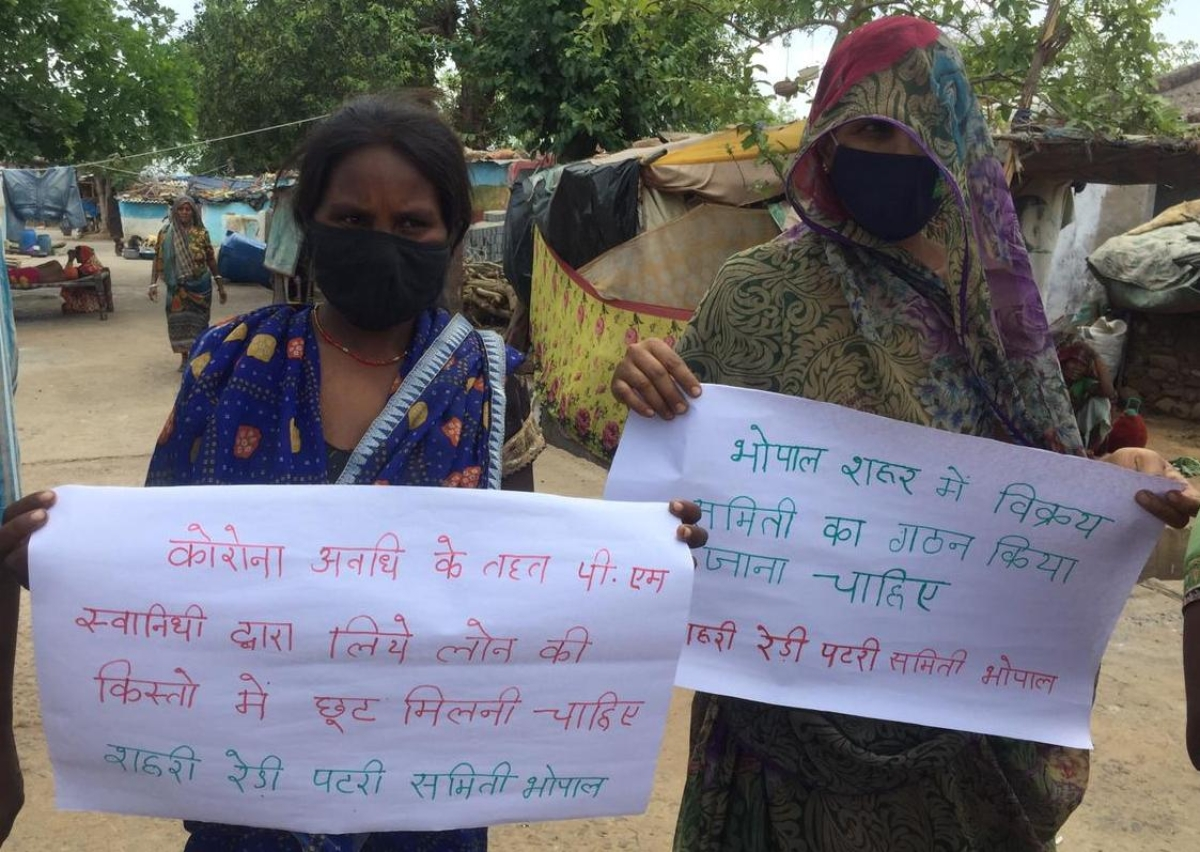 Bhopal: Protest by 'Rehri, Patri Samiti', now street vendors want frontline workers status