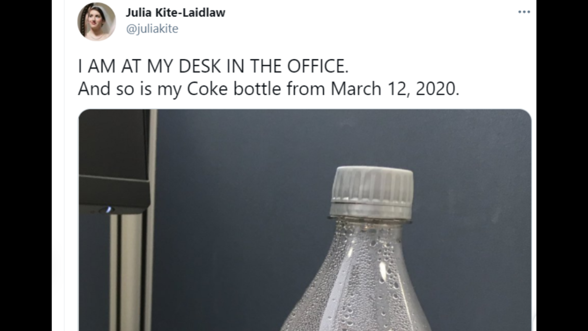'Kim Kardashian of coke bottles': Coke left at work before pandemic is giving Twitterati body-shape goals