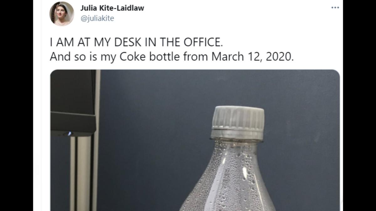 'Kim Kardashian of coke bottles': Coke left at work before pandemic is giving Twitterati body-shape goals
