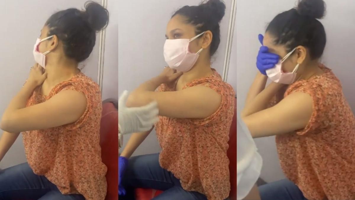 Watch: Ankita Lokhande did THIS before taking the vaccine; Rashami Desai left in splits