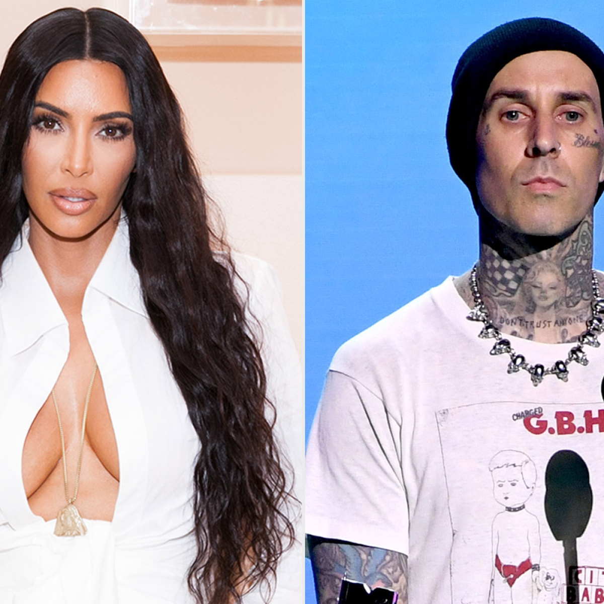 Kim Kardashian rubbishes rumours of hooking up with Travis Barker