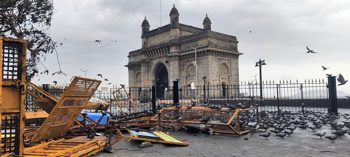 In Pics: Cyclone Tauktae ravages Mumbai; wall, footpath near Gateway of India damaged
