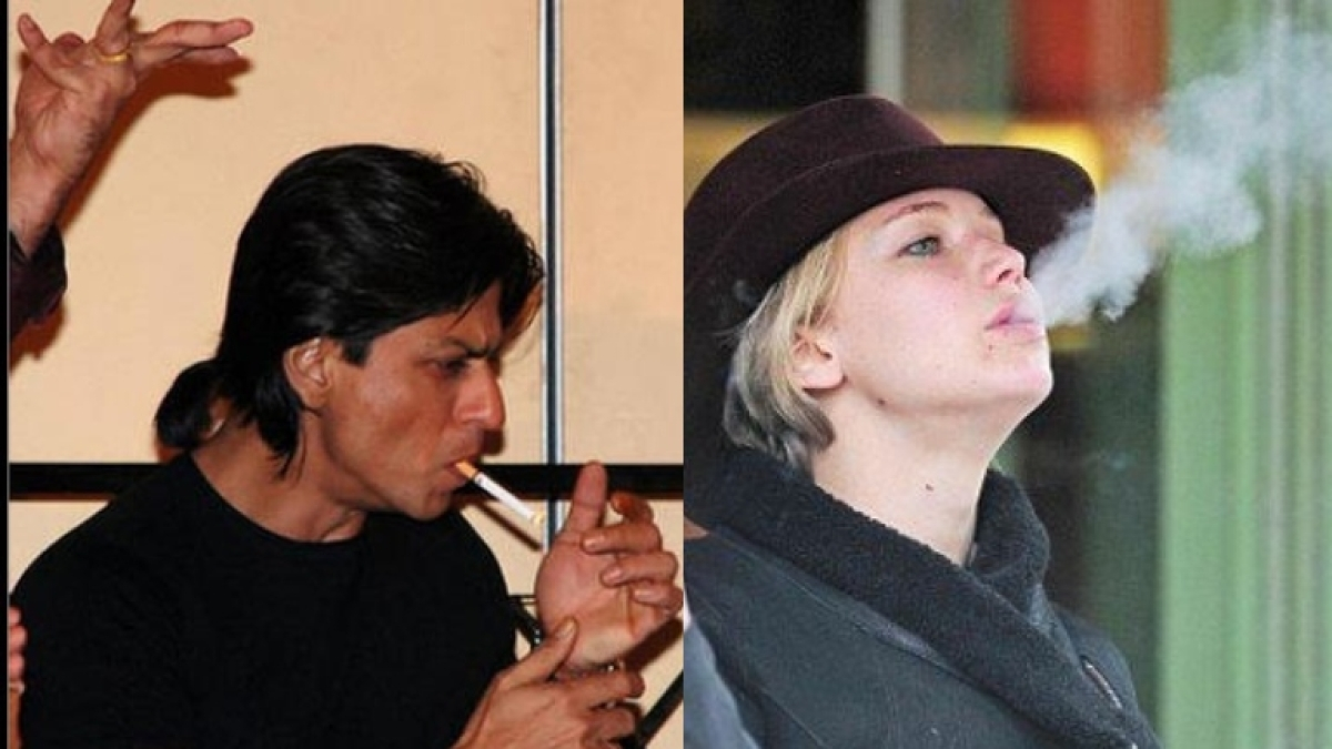 World No Tobacco Day 2021: Shah Rukh Khan, Jennifer Lawrence and other celebrities who are chain smokers