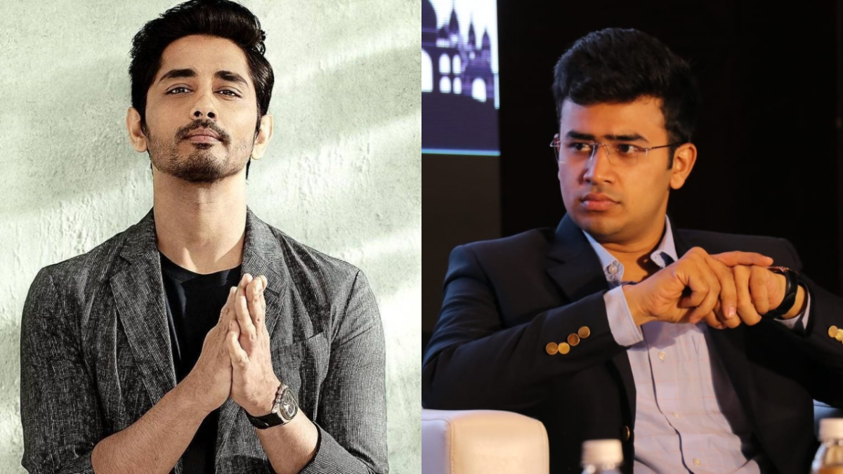 'Don't be another Kangana': Actor Siddharth trolled for comparing Tejasvi Surya to Ajmal Kasab for #BBMPBedScam
