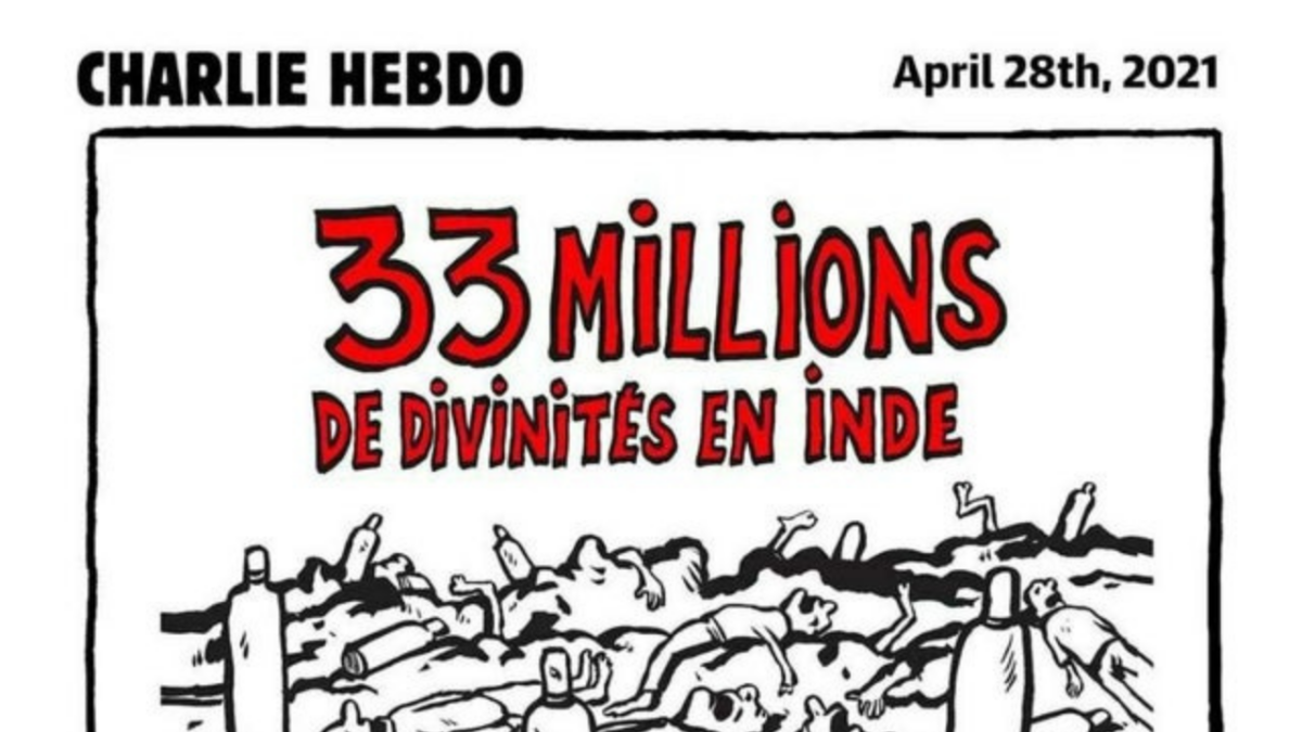 Hindu Gods and India's oxygen crisis: Charlie Hebdo's new cartoon puts Twitter on warpath