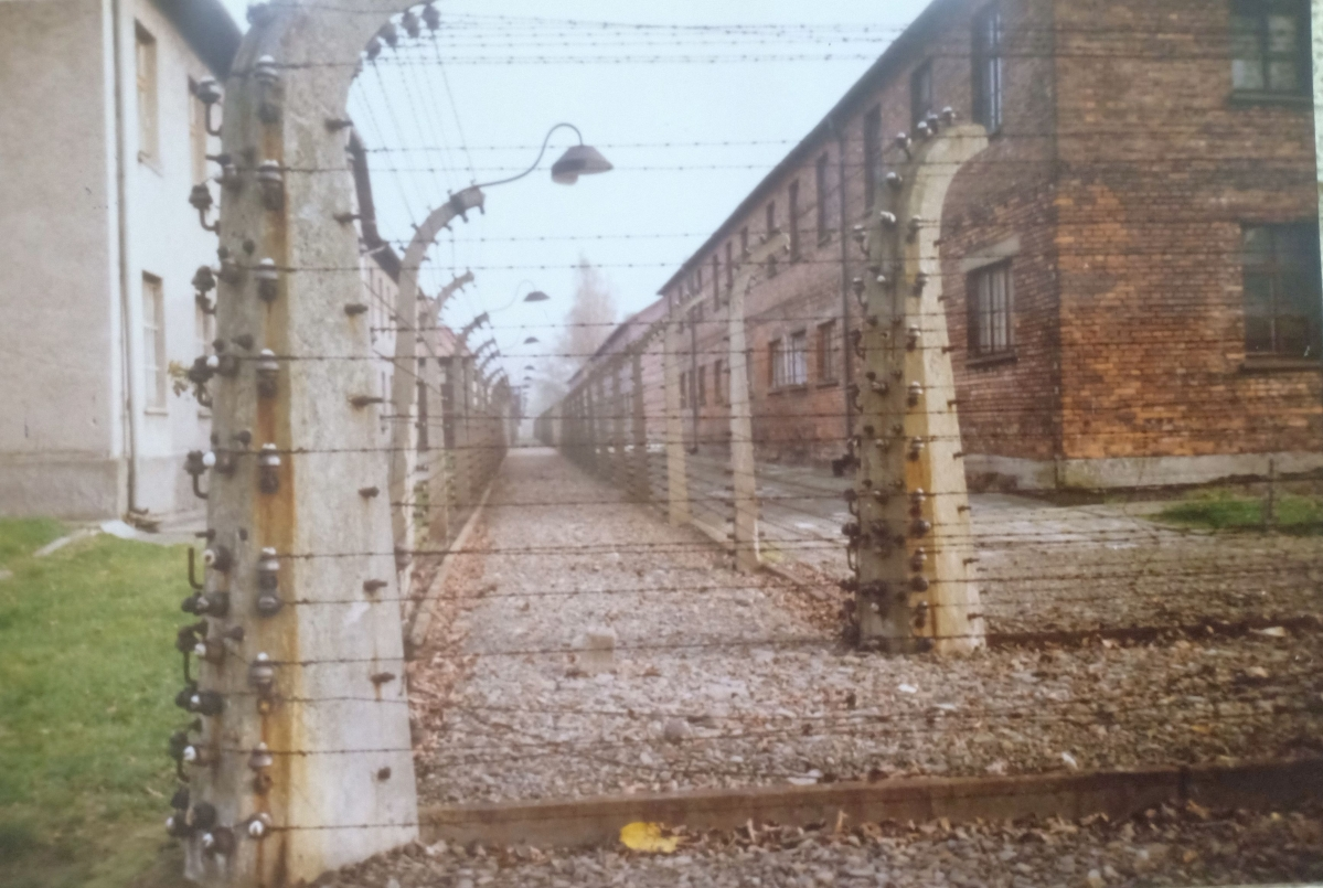 The barracks at Auschwitz