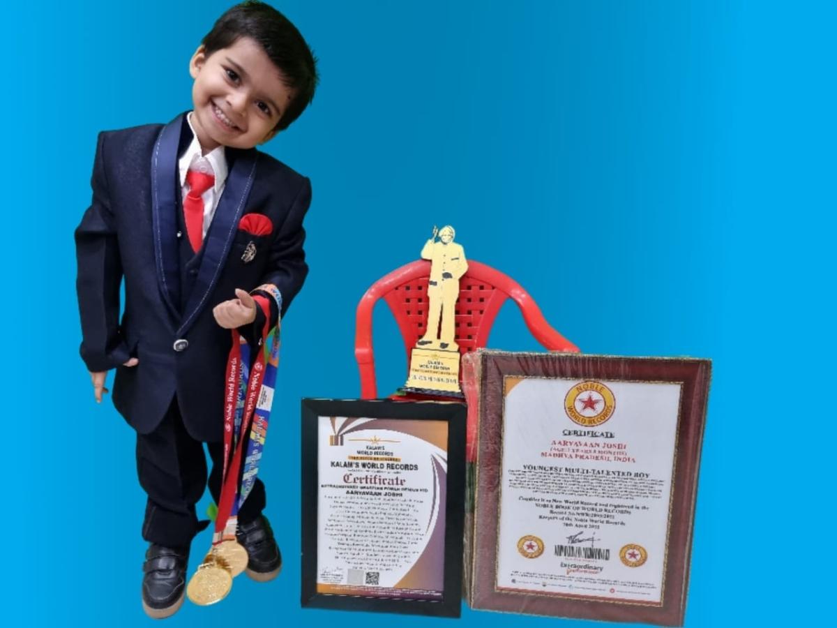 Two-year-old Aaryavaan Joshi of Ratlam.