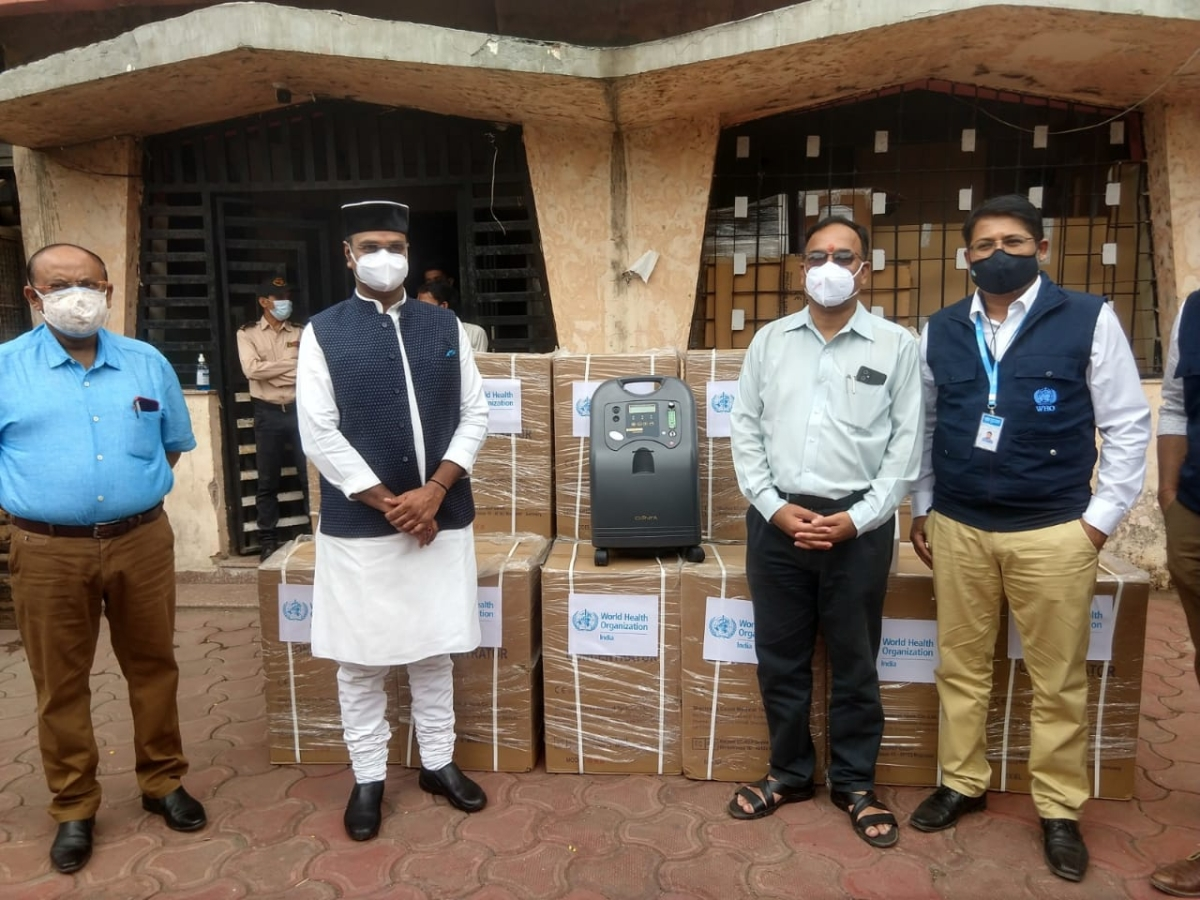 Bhopal: WHO supplies 100 oxygen concentrators to the state