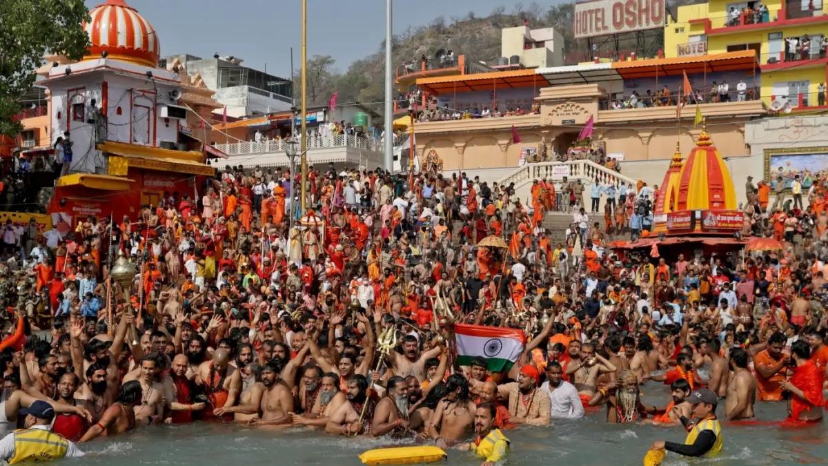 Crowds at the Kumbh Mela this year