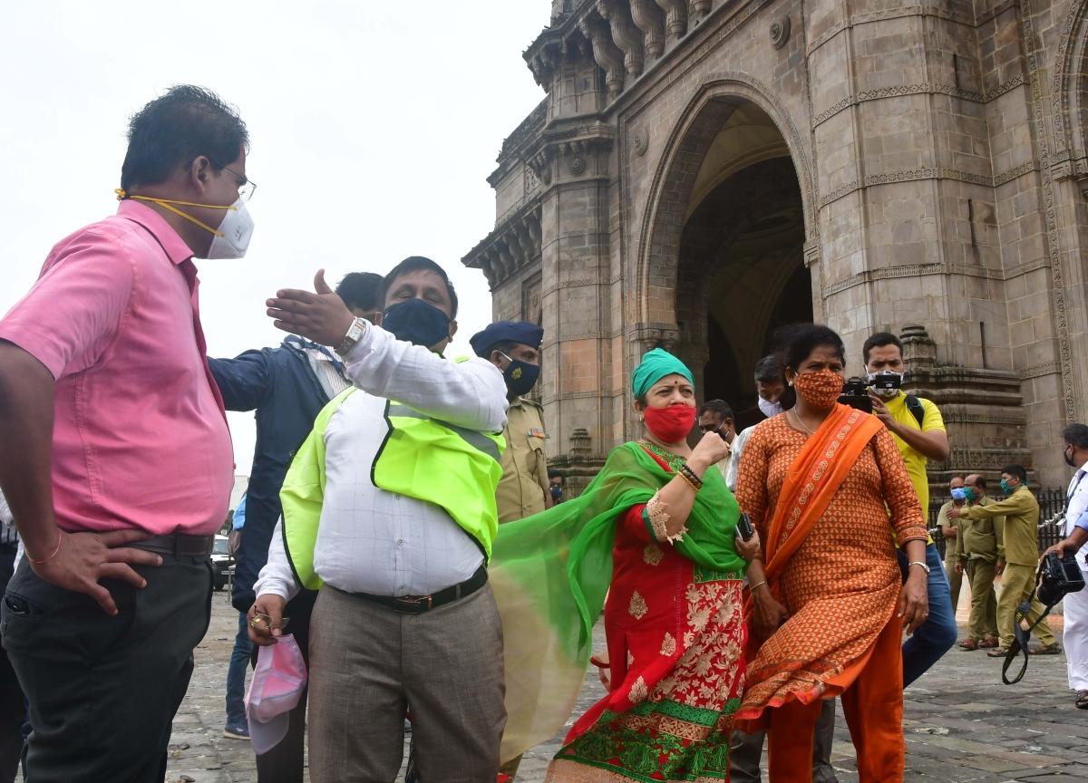 Mumbai Mayor Kishor Pednekar visited Gateway of India, in Mumbai on Tuesday, May 18, 2021.