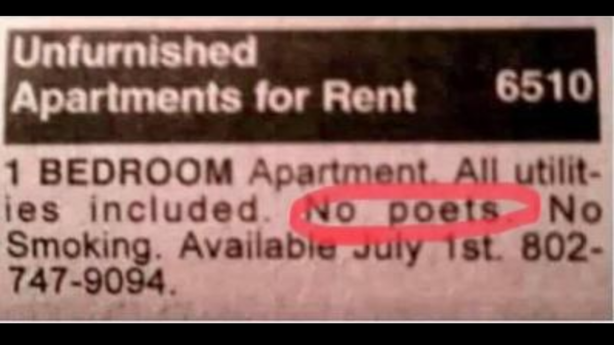 'Bet it's called Dead Poets Society': Landlord says 'no poets' allowed; Twitterati create poetic puns