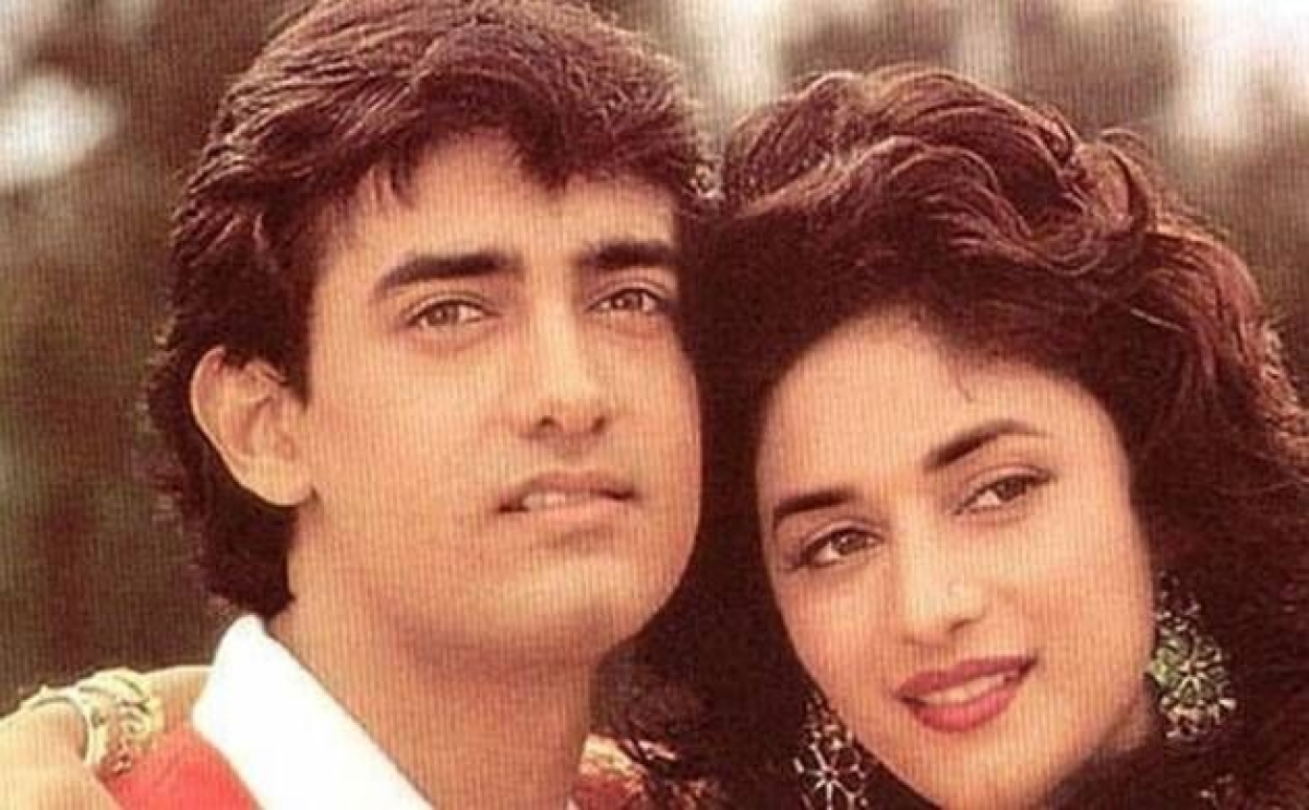 Madhuri Dixit and Aamir Khan in Dil