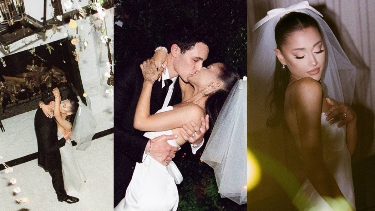 In Pics: Ariana Grande shares glimpses from her intimate wedding ceremony with Dalton Gomez