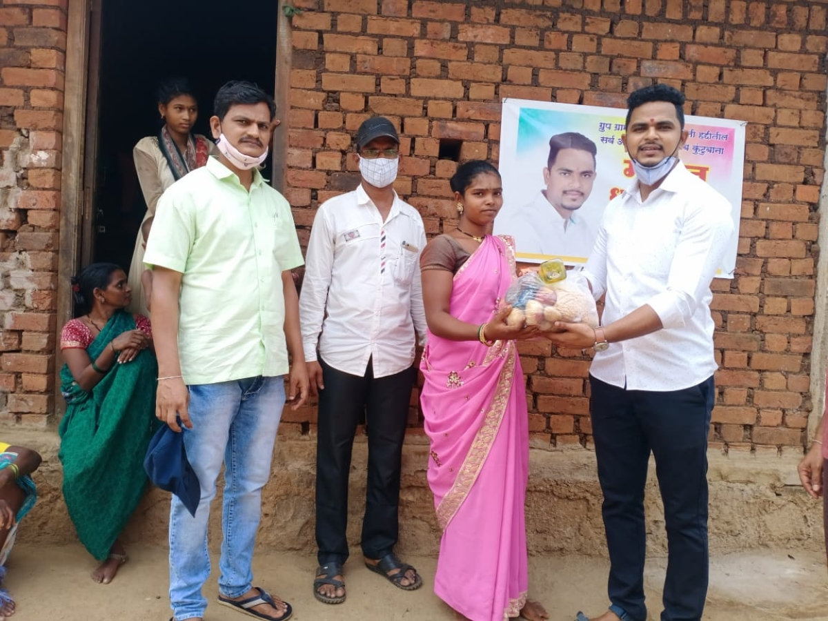 Thane: Railway pointsman Mayur Shelke distributes food kits to tribals; see pics