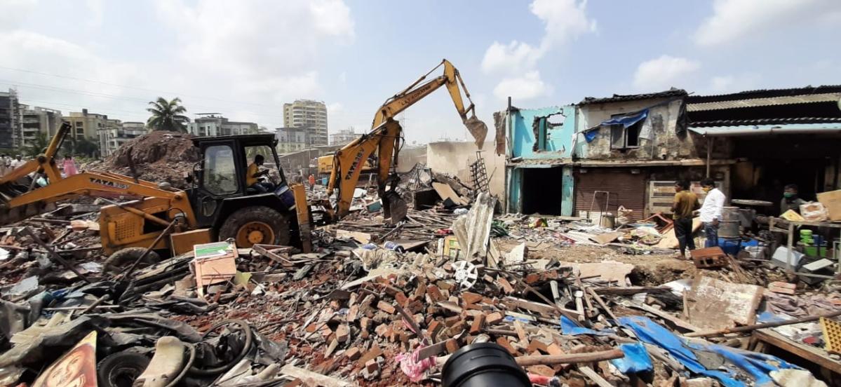 Balasaheb Thackeray Memorial: MBMC clears decks; demolishes illegal structures in Bhayandar
