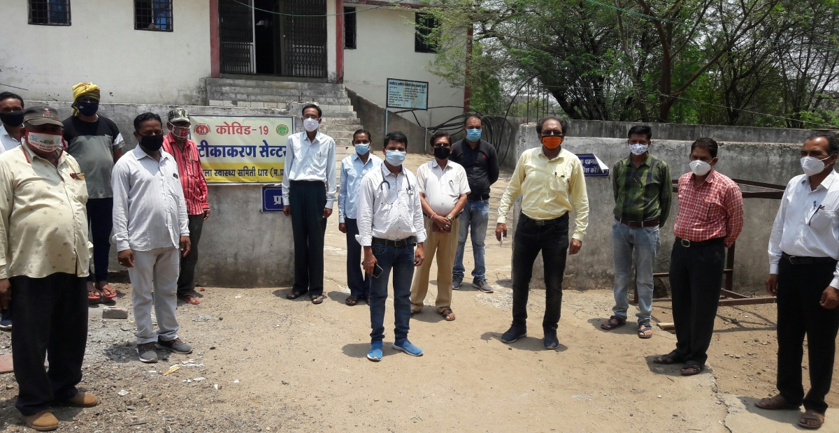 Block Education Officer Satish Chandra Patidar and Block Resource Coordinator Manoj Dubey visited villages on Saturday to approach families of teachers, sankul centres with an appeal to get vaccinated