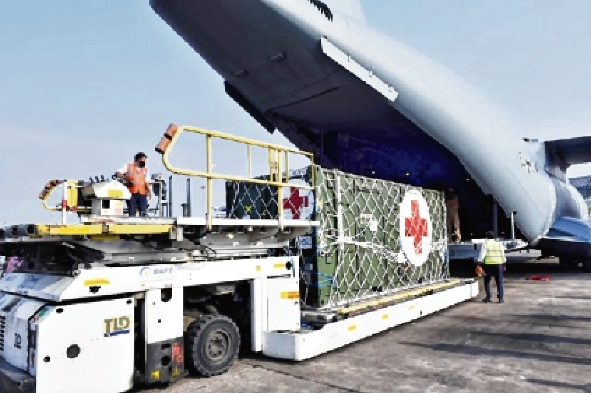 6 US flights with medical aid reach India