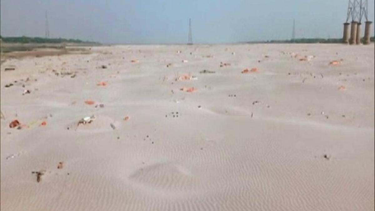 Bodies found buried in sand on banks of Ganga in UP's Prayagraj