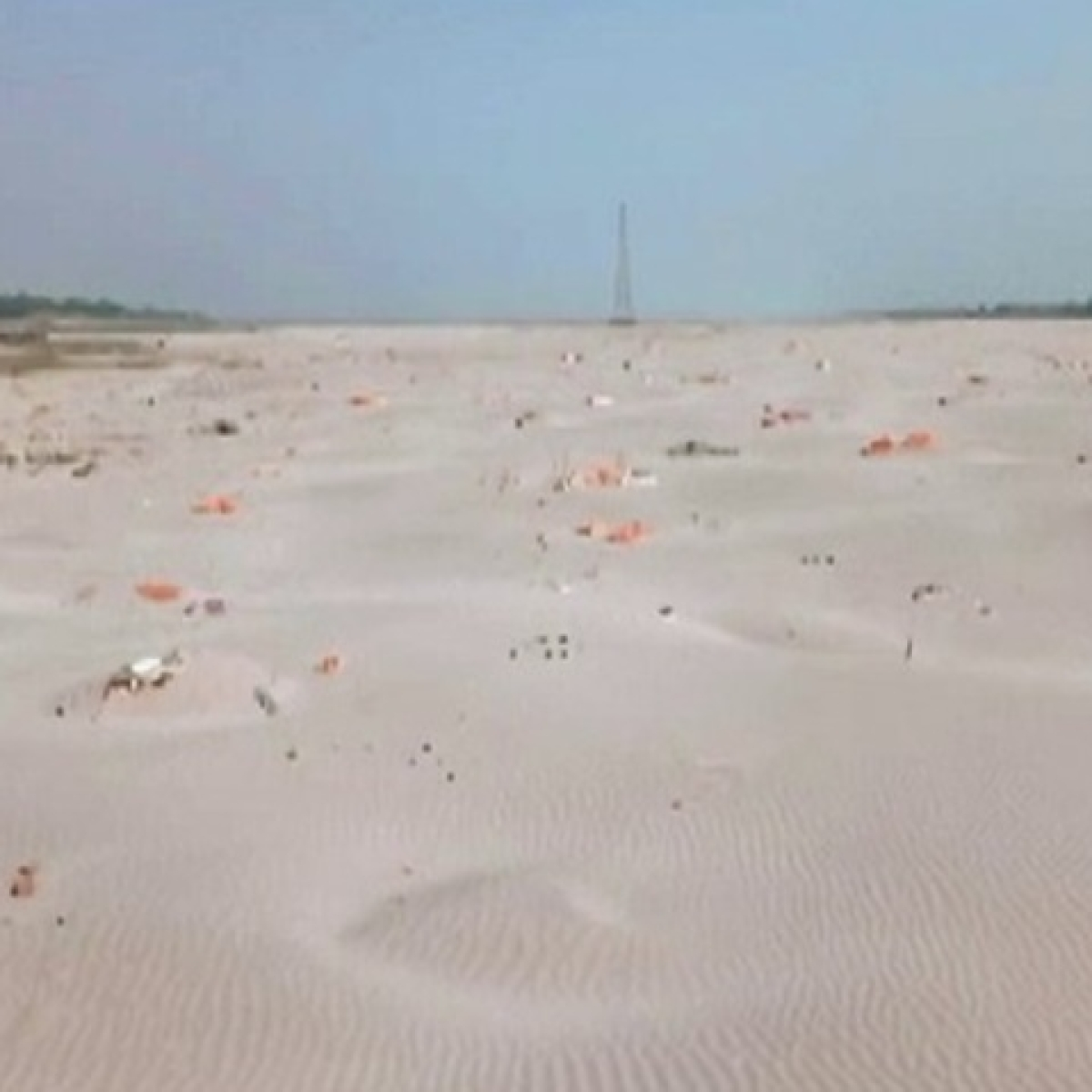 Bodies found buried in sand on banks of Ganga in UP's Prayagraj