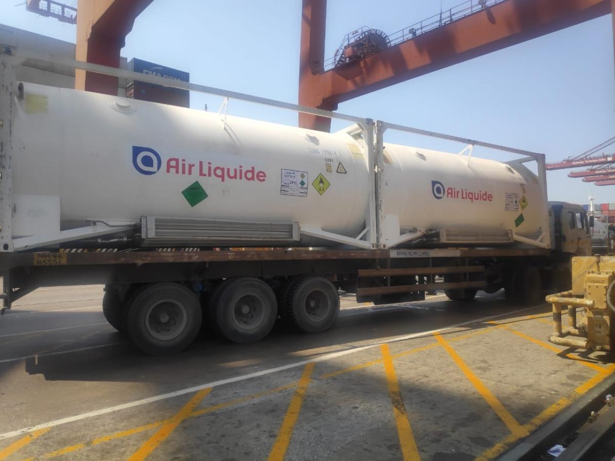 JNPT receives 80 MT of liquid medical oxygen from United Arab Emirates