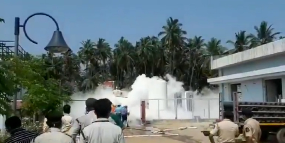 Watch Video: Oxygen leaks from tanker at hospital in Goa, fire tenders rushed to spot