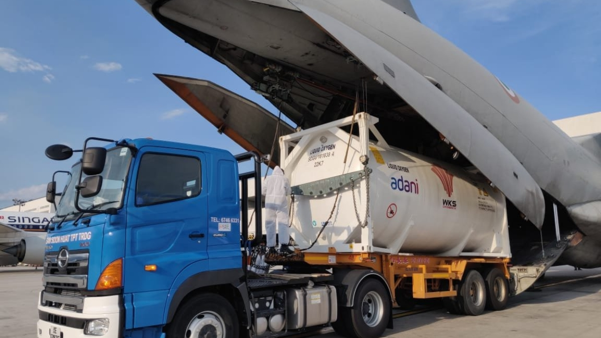 India fights COVID-19: IAF airlifts two cryogenic oxygen containers from Jakarta