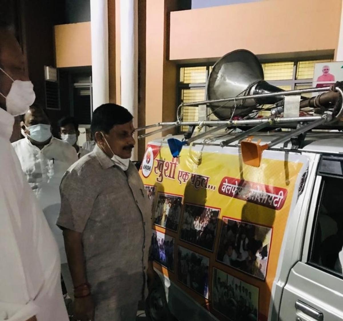 Steam on Mobile Van was launched by Khushi Ek Pahal under MP Jan Abhiyan Parishad's Me Corona Volunteer drive