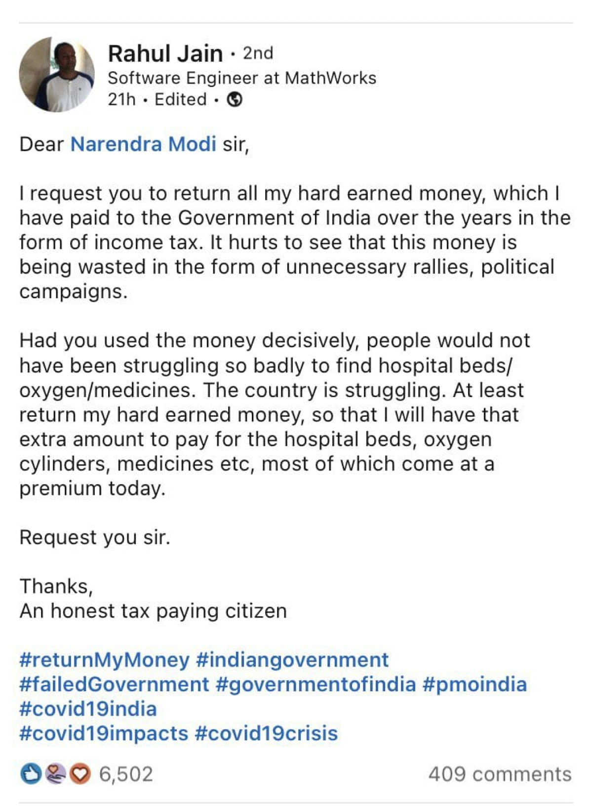 Outrage amid pandemic: As COVID-19 cases and death toll rise, netizens 'want their money back' from Centre