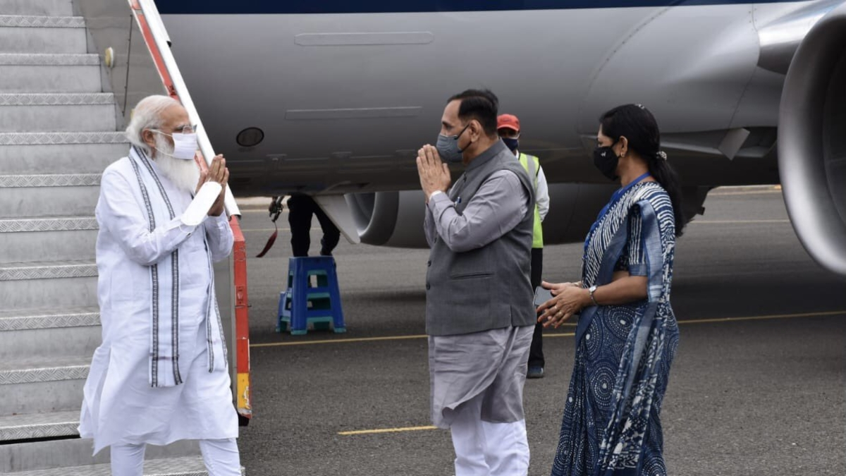 PM Modi reaches Gujarat to review damage caused by Cyclone Tauktae
