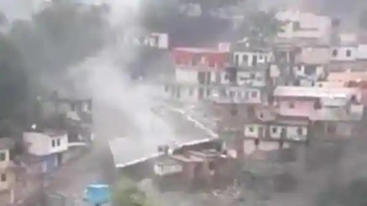 Cloudburst hits Devprayag in Uttarakhand, several shops and buildings damaged