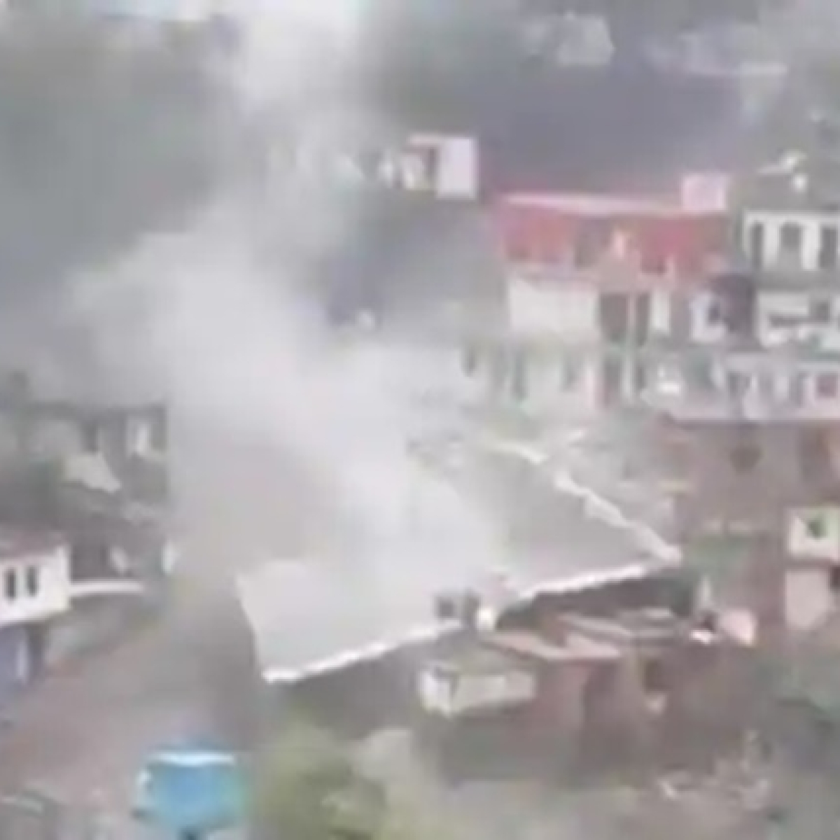 Cloudburst hits Devprayag in Uttarakhand, several shops and buildings damaged